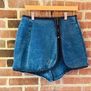 Vintage Medium Wash Denim Skort Women's Size M
